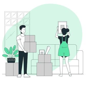 Illustration de concept en mouvement