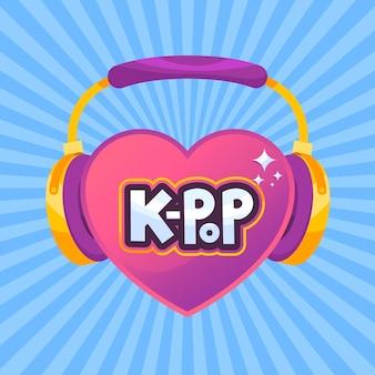Illustration de concept de musique k-pop