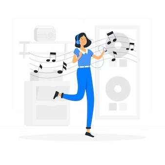 Illustration de concept de musique