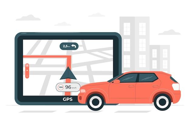 Illustration de concept de navigateur gps