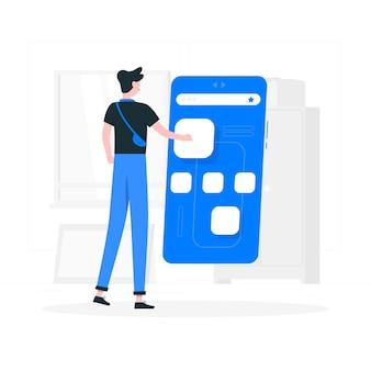 Illustration de concept de navigateurs mobiles