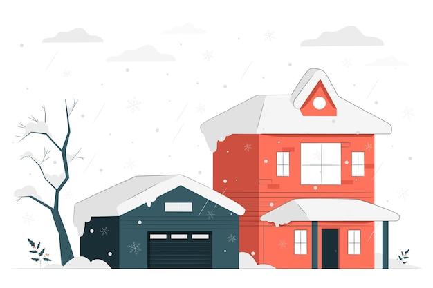 Illustration de concept de neige