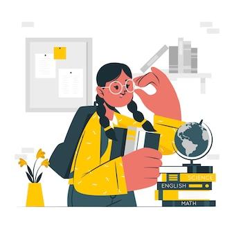 Illustration de concept de nerd