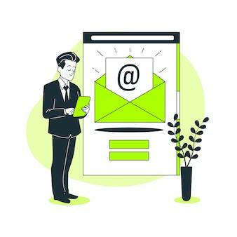 Illustration de concept de newsletter