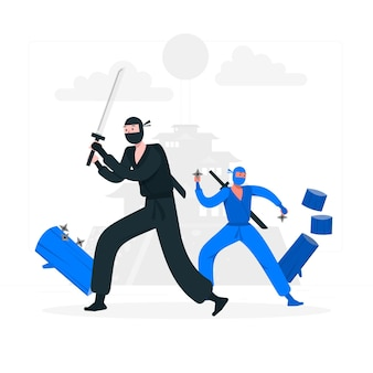 Illustration de concept ninja