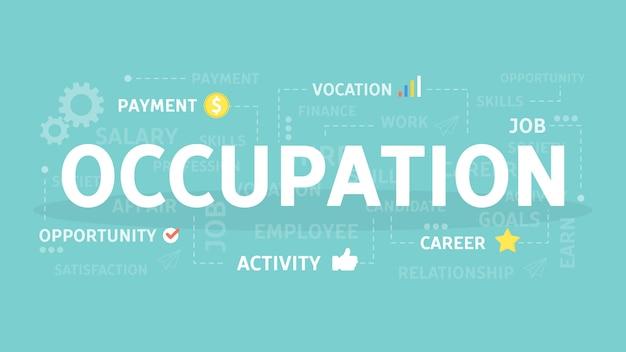 Illustration de concept d'occupation.