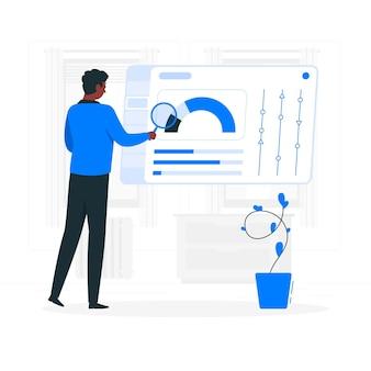 Illustration de concept d'onglet d'information