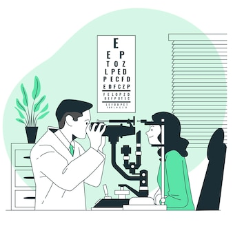 Illustration de concept ophtalmologiste