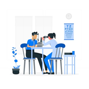 Illustration de concept d'ophtalmologiste