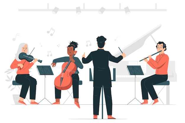 Illustration de concept d'orchestre