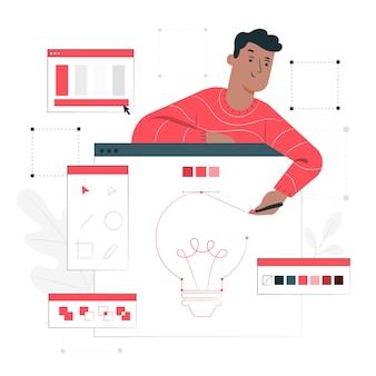Illustration de concept d'outils de conception