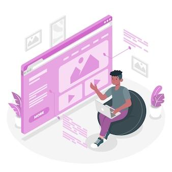 Illustration de concept de page de destination