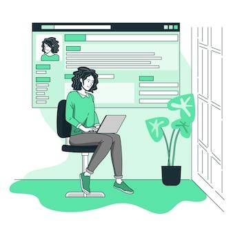 Illustration de concept de page en ligne