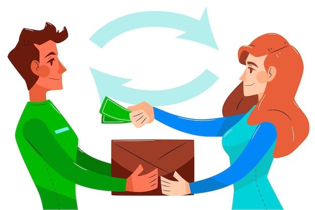 Illustration de concept de paiement à la livraison