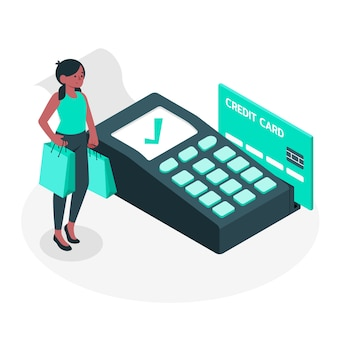 Illustration de concept de paiement par carte de crédit