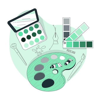 Illustration de concept de palette