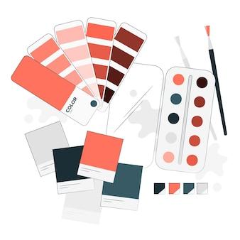 Illustration de concept de palette