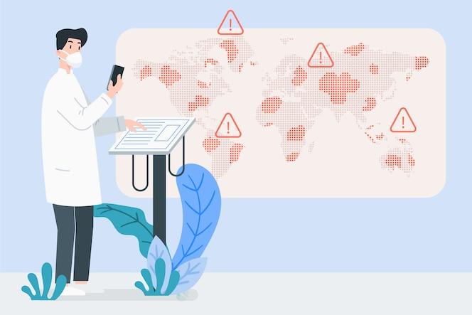 Illustration de concept de pandémie