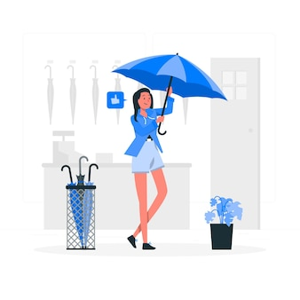 Illustration de concept de parapluie