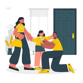 Illustration de concept de parents