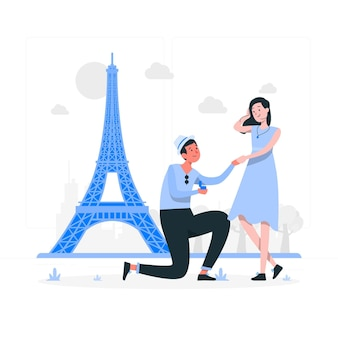 Illustration de concept de paris