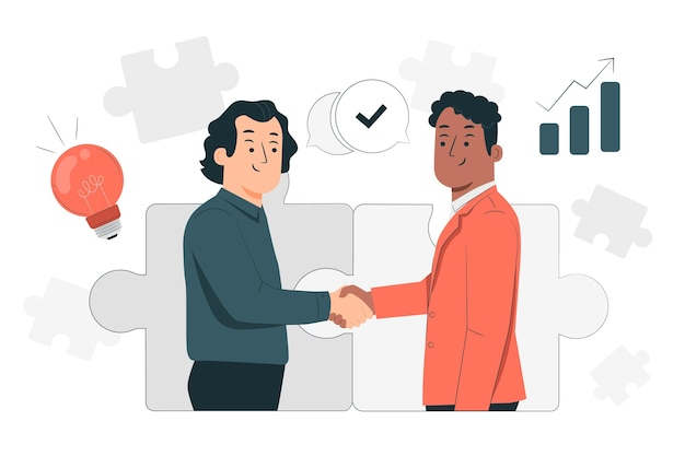 Illustration de concept de partenariat