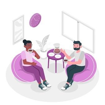 Illustration de concept de pause café
