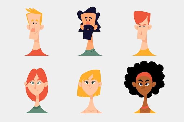 Illustration de concept de personnes avatars