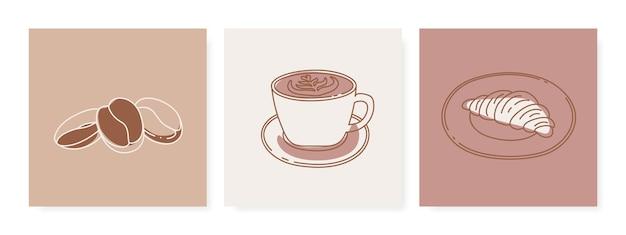 Illustration de concept de petit déjeuner