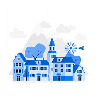 Illustration de concept de petite ville