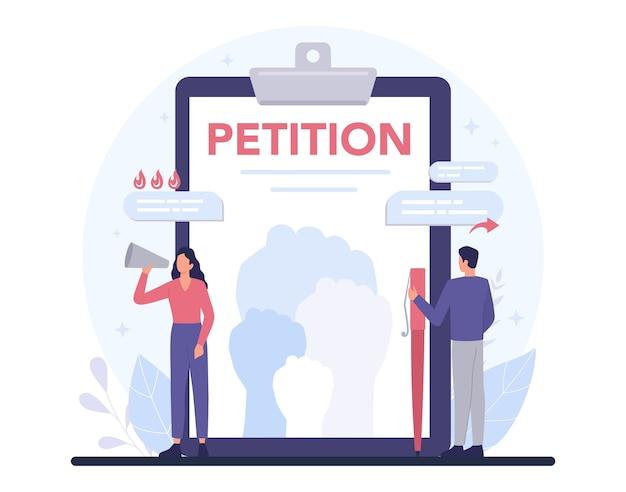 Illustration de concept de pétition
