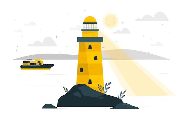 Illustration de concept de phare