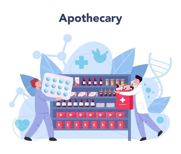Illustration de concept de pharmacie
