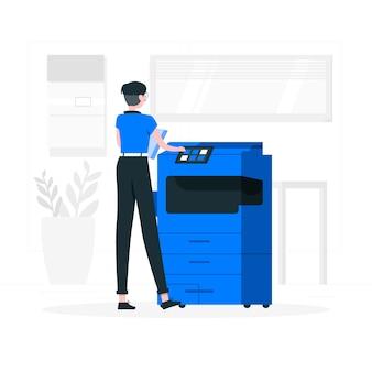 Illustration de concept de photocopie