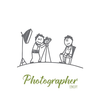 Illustration de concept de photographe