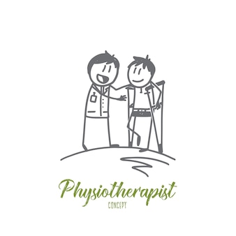 Illustration de concept de physiothérapeute
