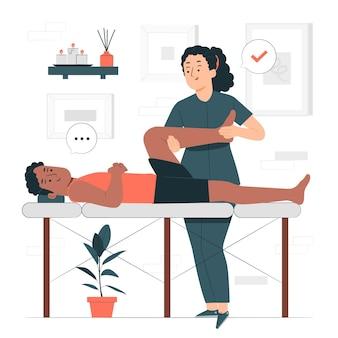 Illustration de concept de physiothérapie