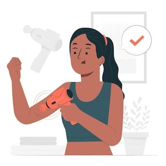 Illustration de concept de pistolet de massage
