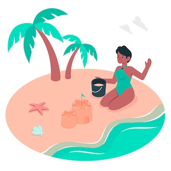 Illustration de concept de plage
