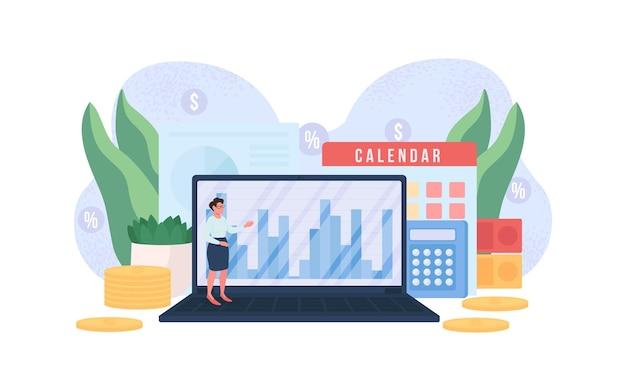 Illustration de concept plat comptable