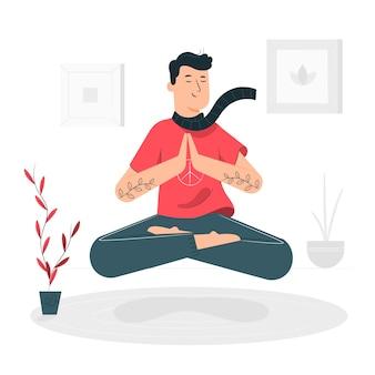 Illustration de concept de pleine conscience