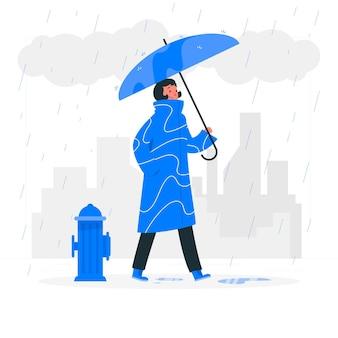Illustration de concept de pluie