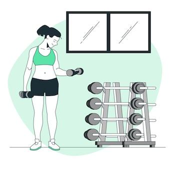 Illustration de concept de poids