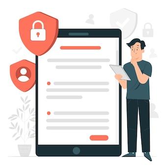 Illustration de concept de politique de confidentialité