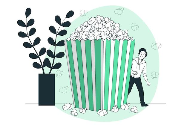 Illustration de concept de pop-corn