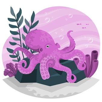Illustration de concept de poulpe