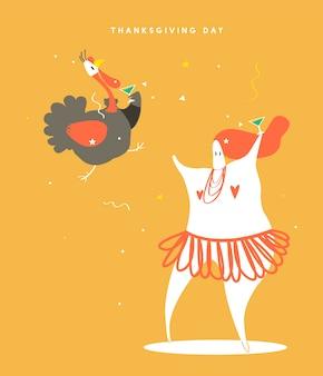 Illustration de concept pour le jour de thanksgiving mondial
