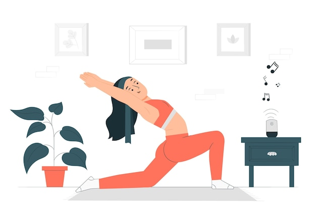 Illustration de concept de pratique de yoga
