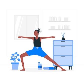 Illustration de concept de pratique de yoga