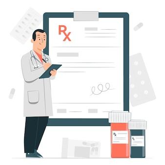 Illustration de concept de prescription médicale